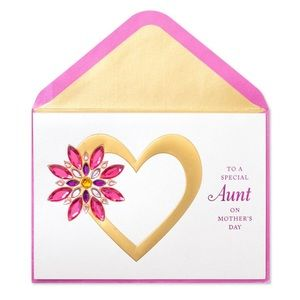 ⚡️5/$30⚡️Papyrus gem flower for aunt, MD card